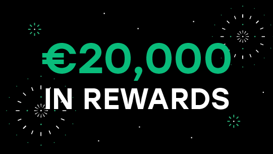 Win up to €20,000 in Bitcoin and zero fees forever